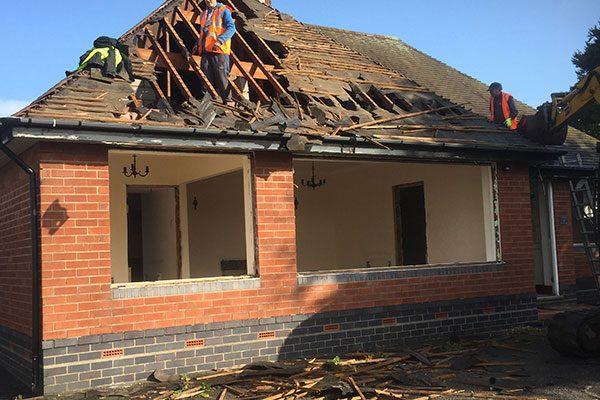 Booths Lane Demolish Bungalow